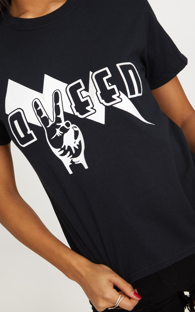Black Queen Slogan T Shirt  5
