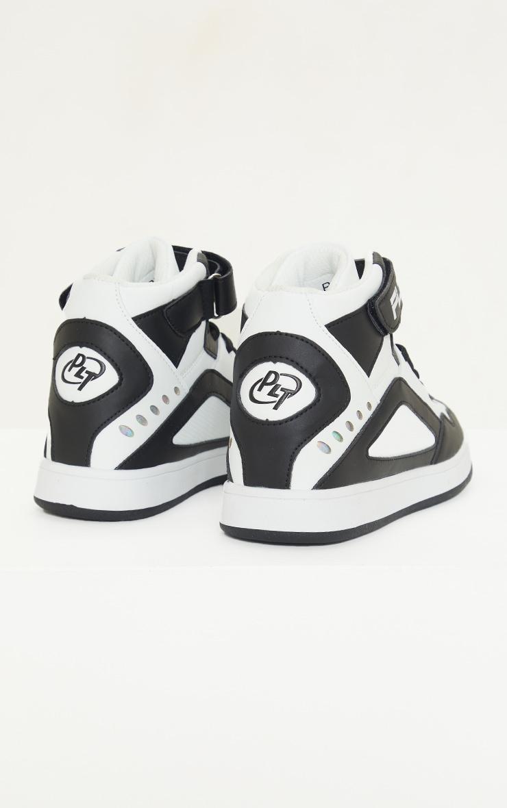 Black Strap High Top Sneakers 4