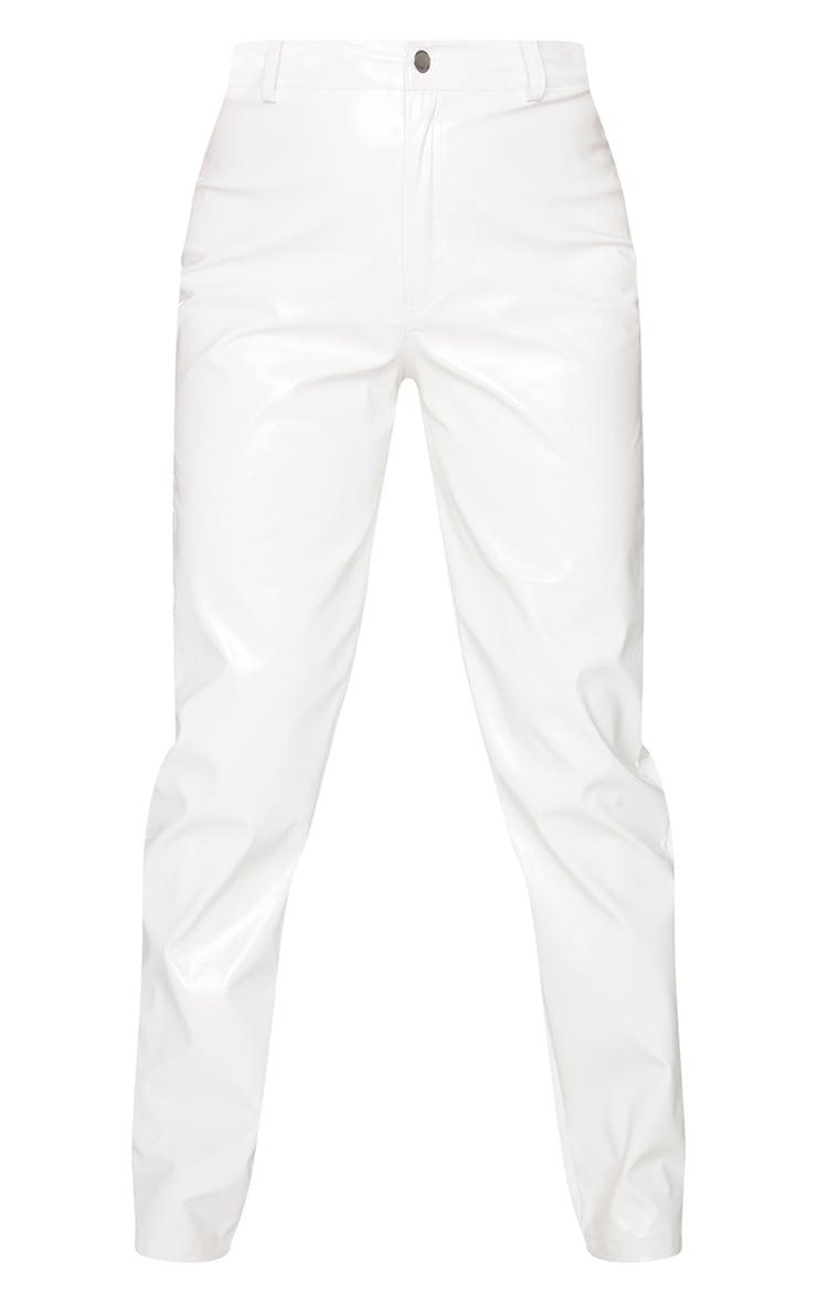 White Skinny Vinyl Pants 5
