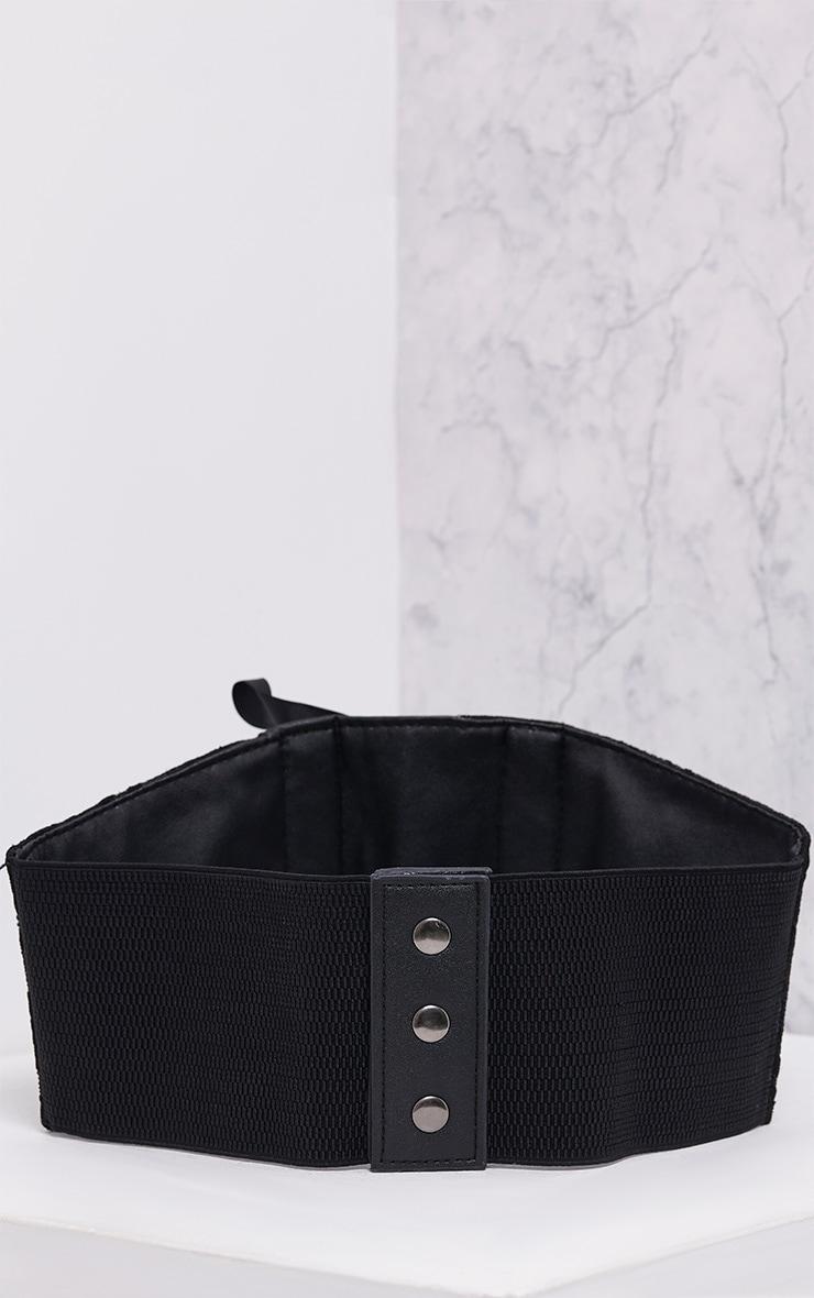 Mista Black Corset Style Belt 4