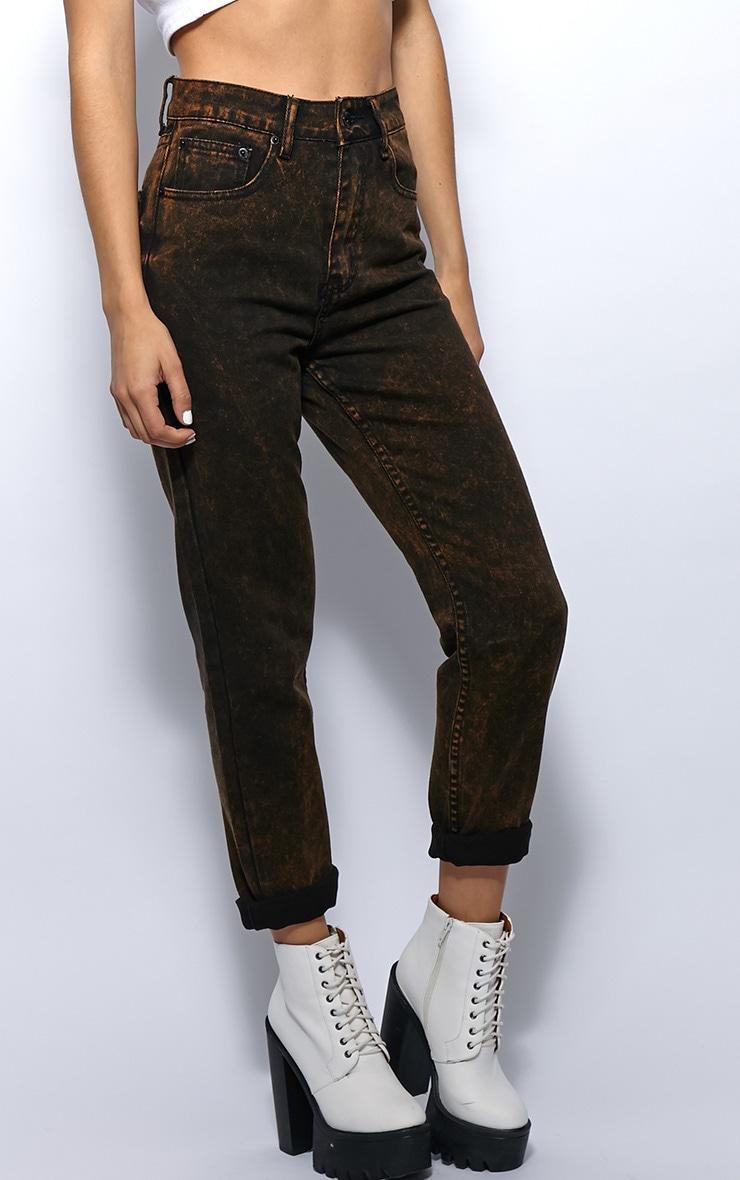 Courtney Mustard Diesel Wash Mom Jeans 5