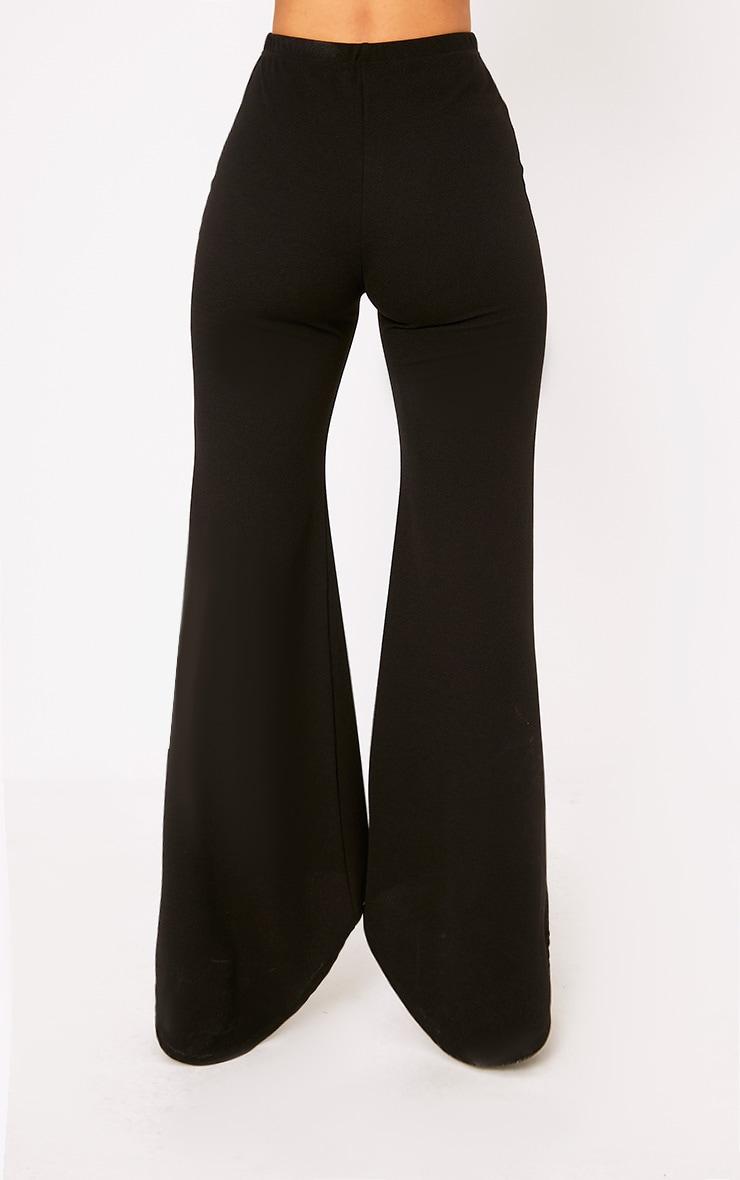 Black Step Hem Wide Leg Trousers 4
