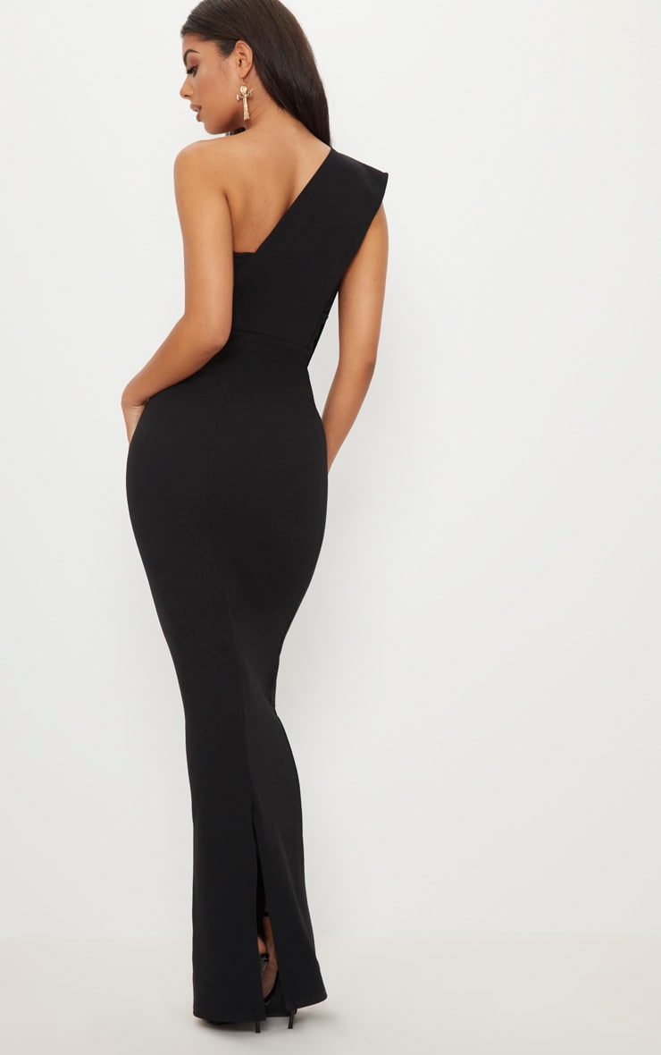 Black One Shoulder Maxi Dress 2