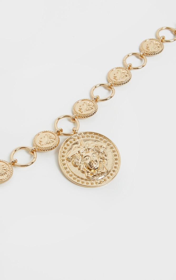 Gold Medusa Coin Chain Belt  3