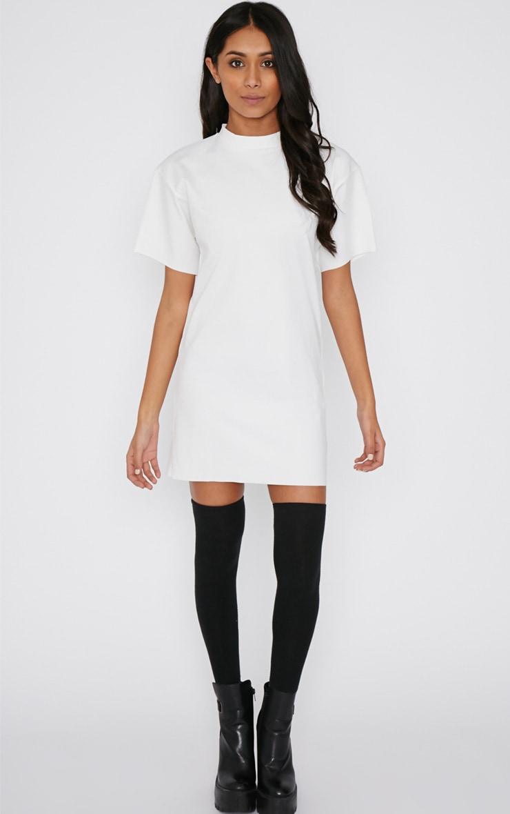 Basma Cream Shift Dress 4