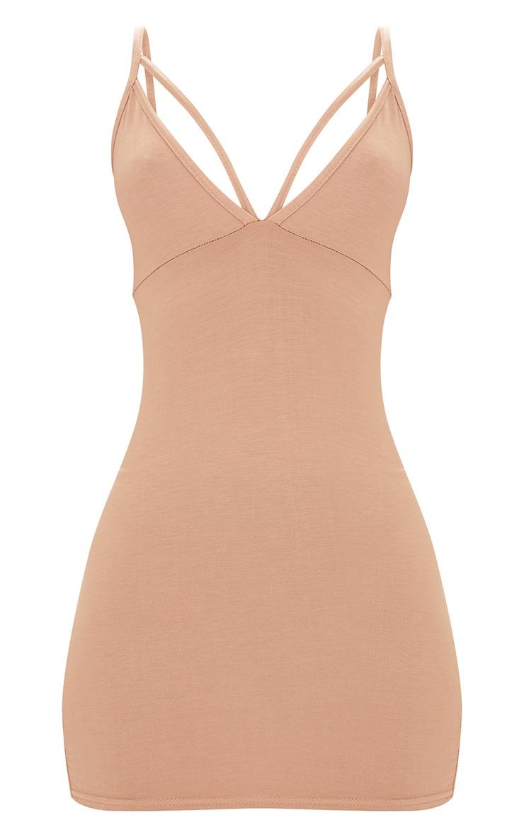 Camel Strap Detail Bodycon Dress 3