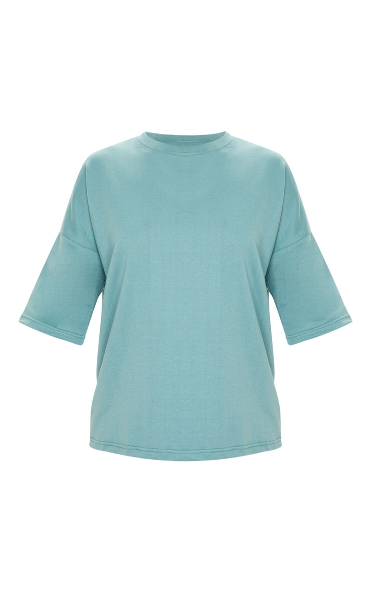 Dusty Turquoise Oversized Sweat T-shirt 3