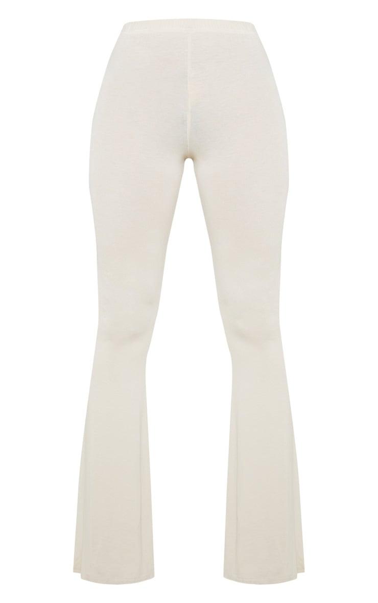 Petite - Pantalon flare basique gris pierre 3