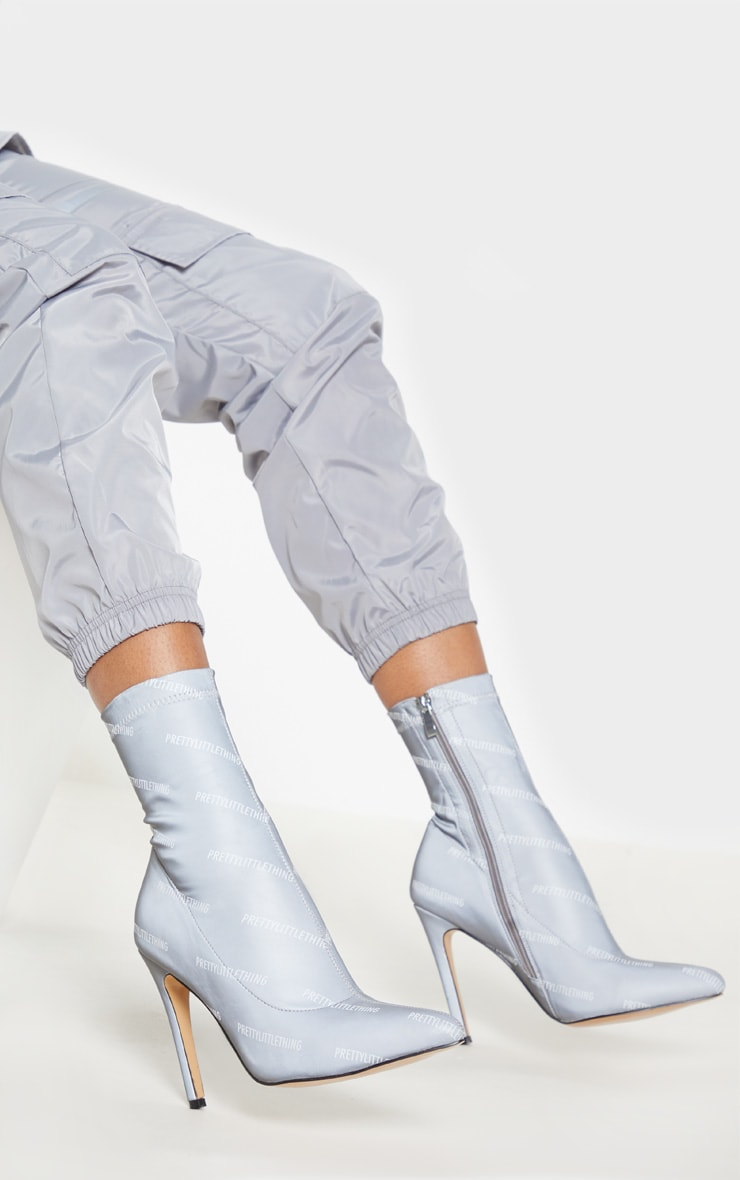 PRETTYLITTLETHING Reflective Sock Boot 2