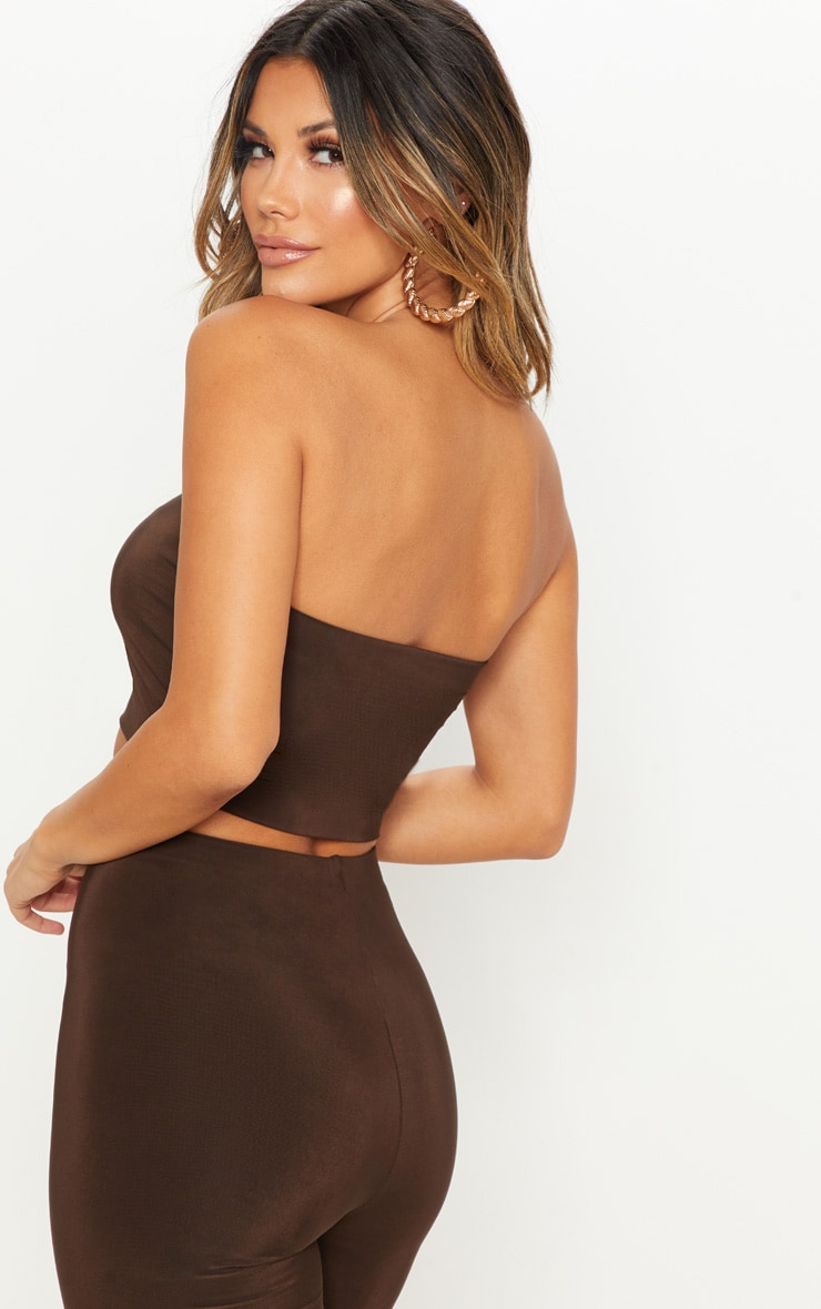Spice & Chocolate 2 Pack Slinky Bandeau Crop Top  2