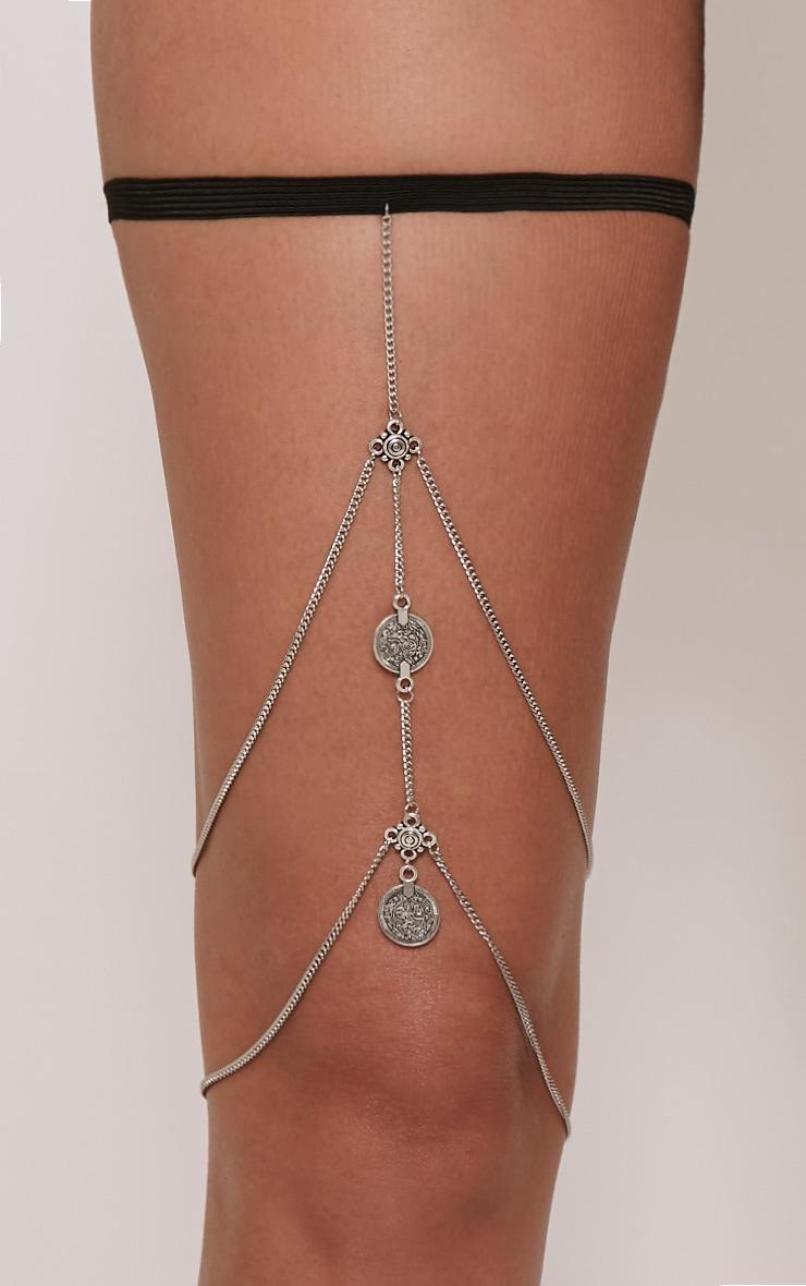 Cassey Silver Chain Leg Harness 3