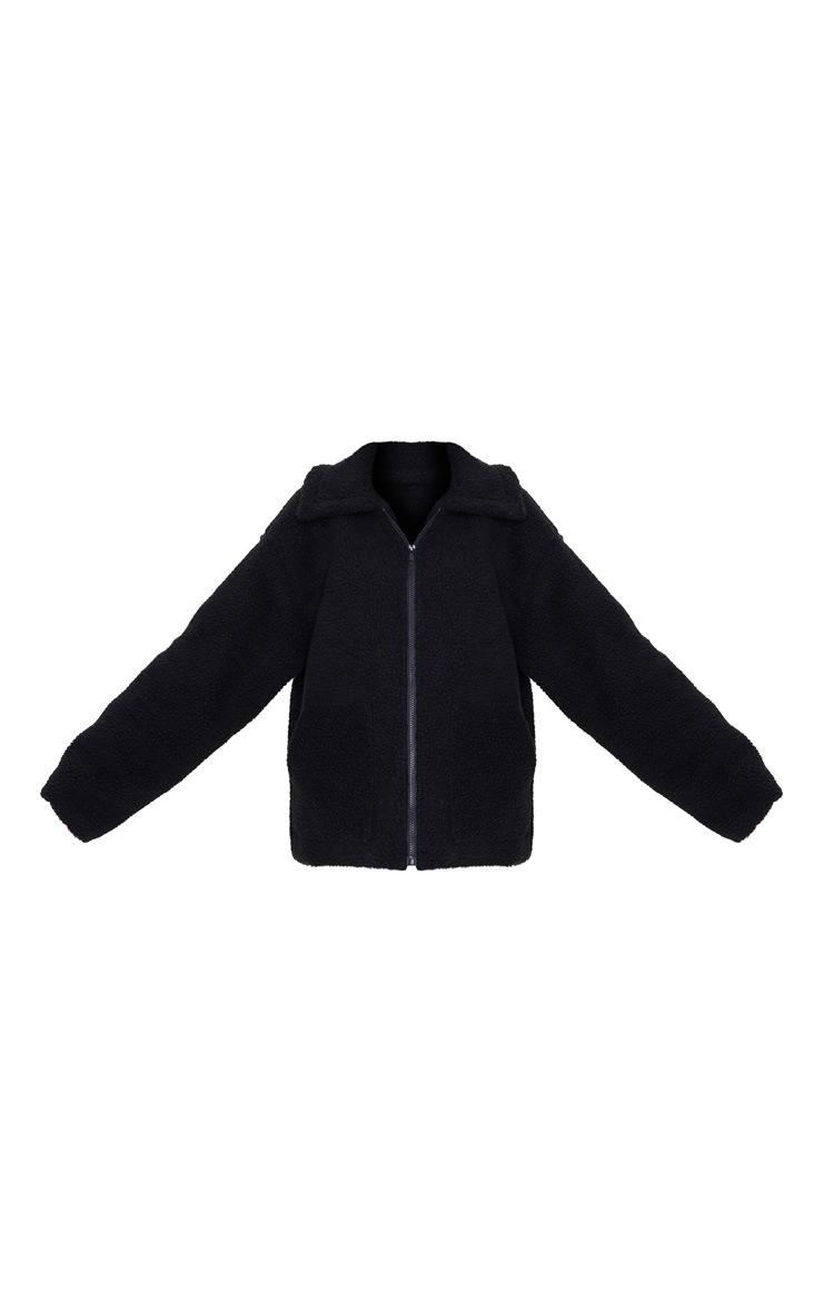 Black Borg Zip Up Oversized Jacket 3
