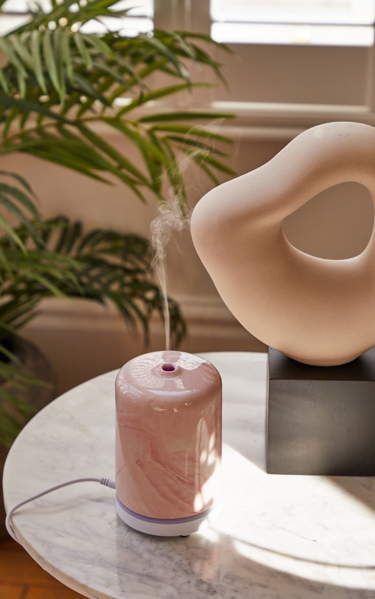 Pink Marble Effect Essential Oil Diffuser 1