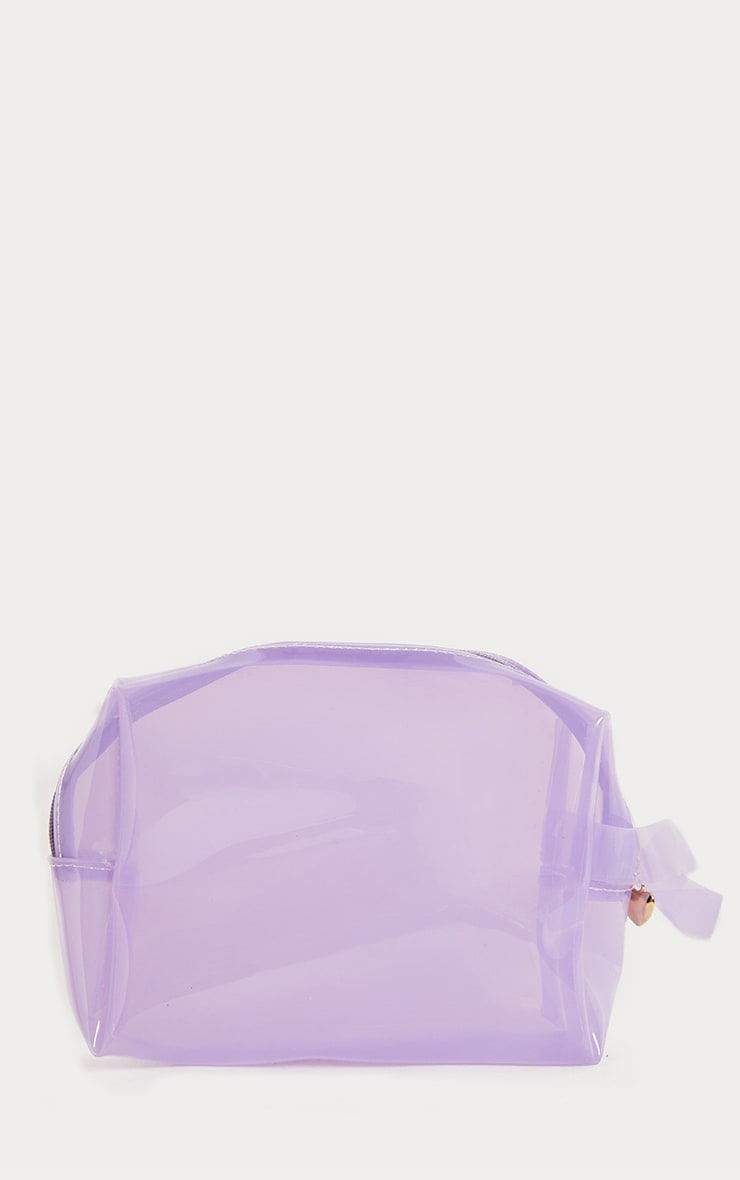 Lilac Clear Large Wash Bag 1