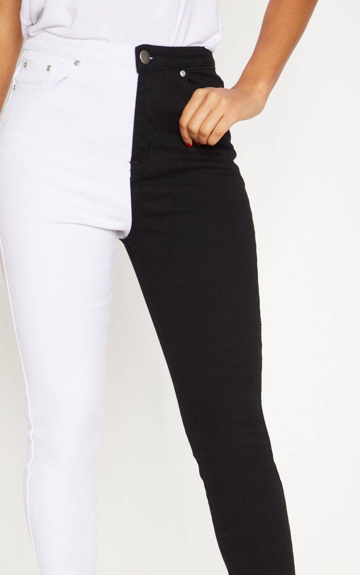 Monochrome Contrast Skinny Jean 5