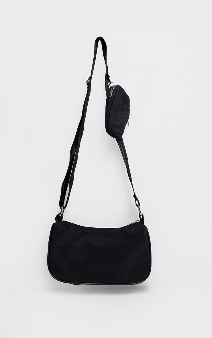 Black Multi Pockets Cross Body Bag 1