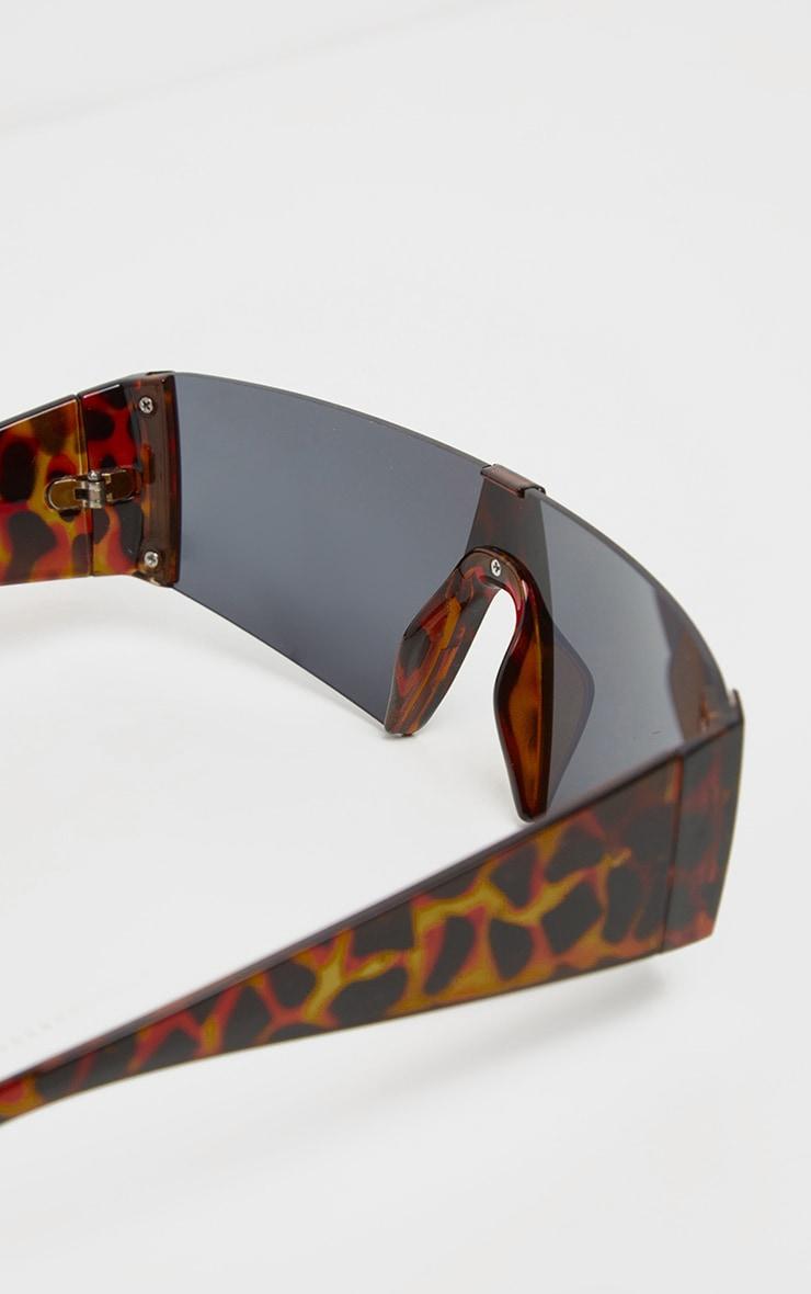 Tortoise Shell Slim Visor Sunglasses 3