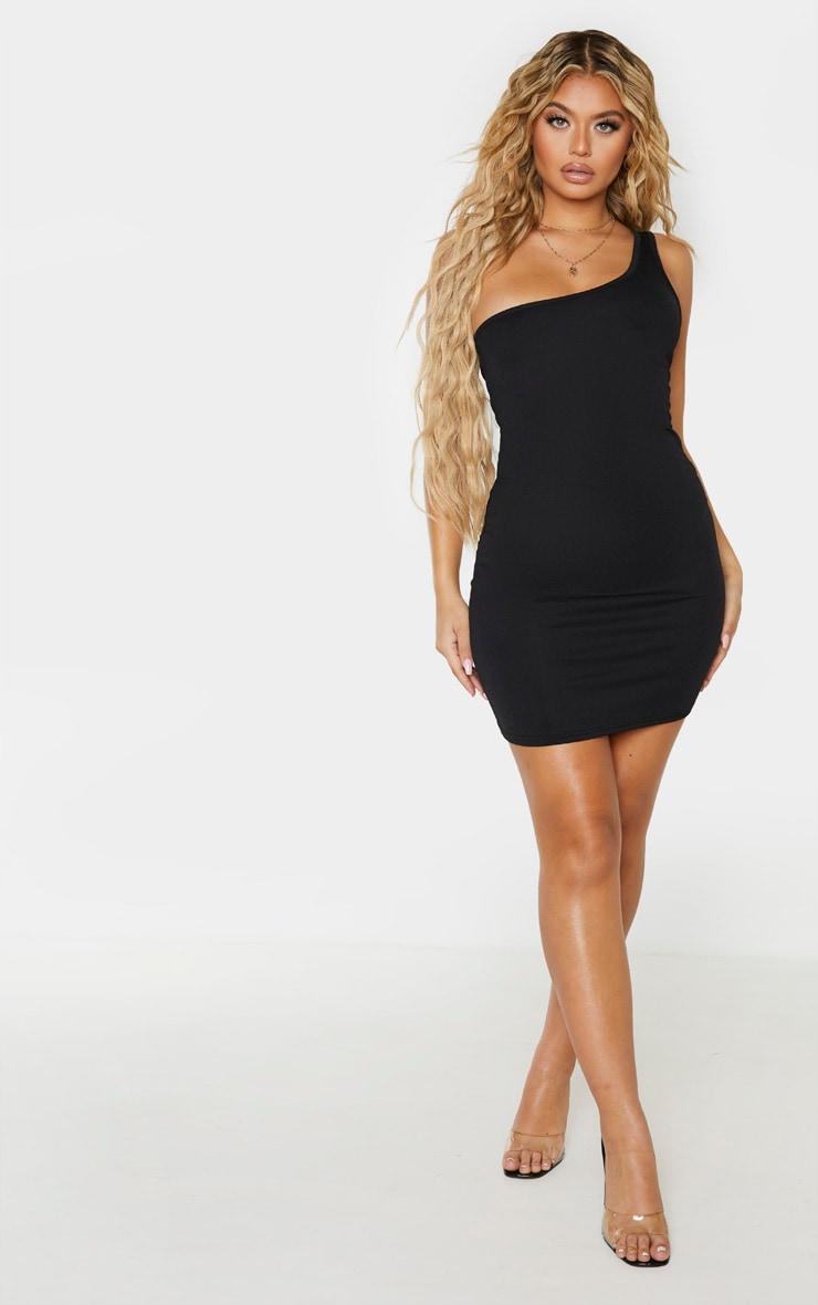 Black One Shoulder Bodycon Dress 4