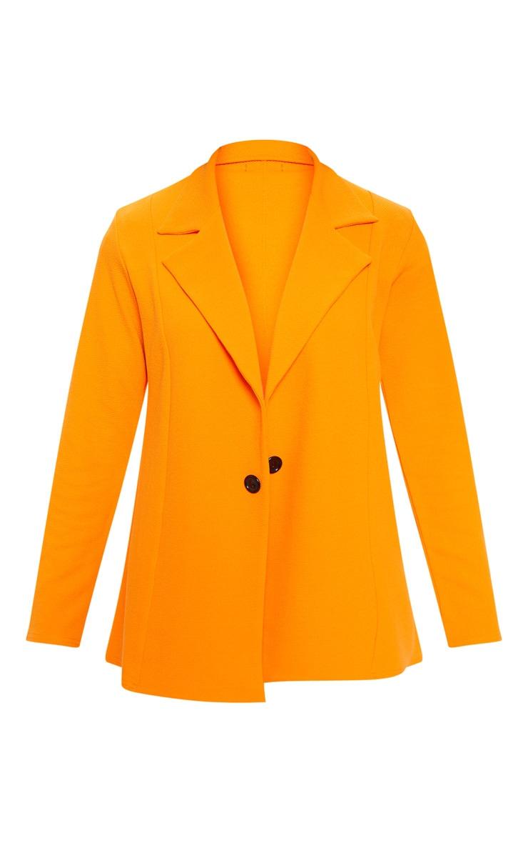 Orange Oversized Blazer  3