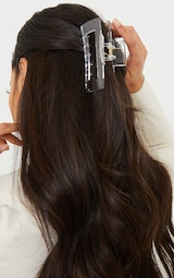 Clear Oversized Rectangle Cut Out Hair Clip 1