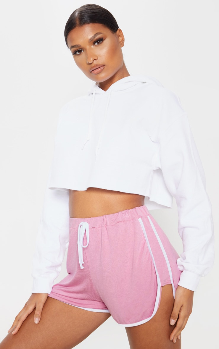 Pink Double Side Stripe Runner Short 1