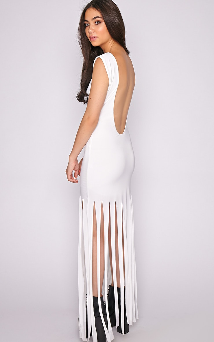 Laurel White Tassel Maxi Dress 2