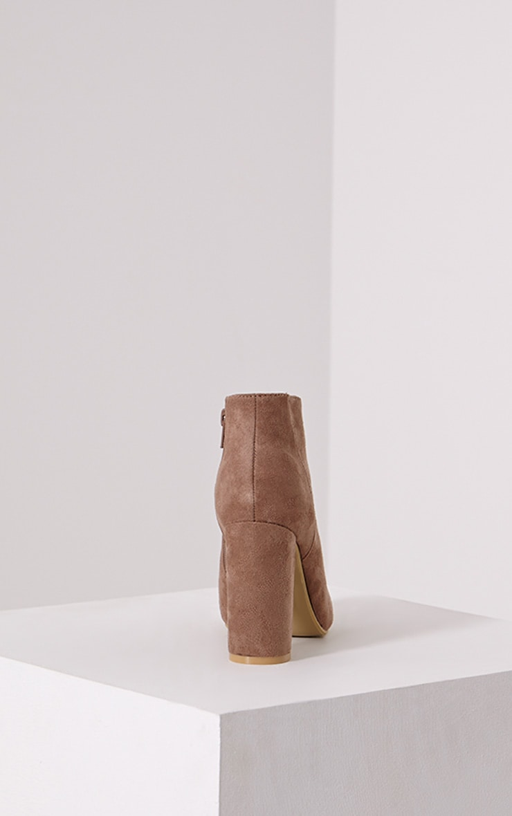 Roux Mocha Suede Ankle Boot 5