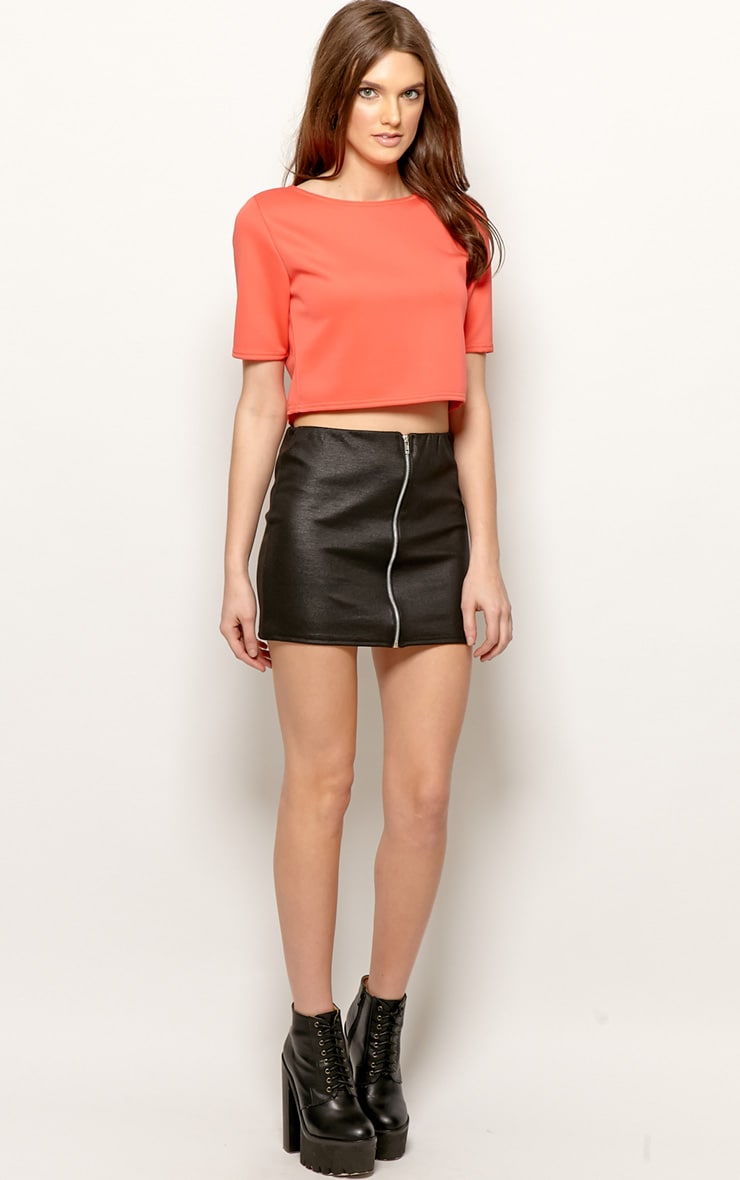 Eliza Coral Scuba Crop Top 3