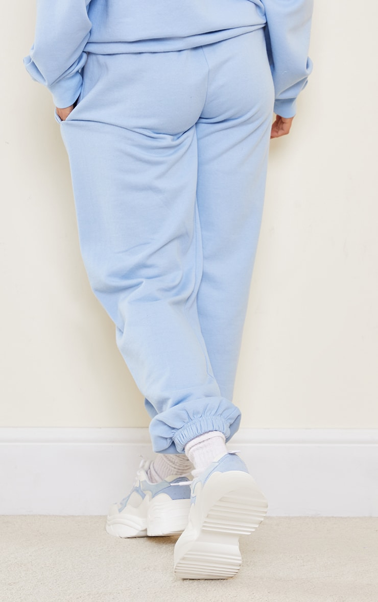 PRETTYLITTLETHING Petite Blue Oversized Joggers 3