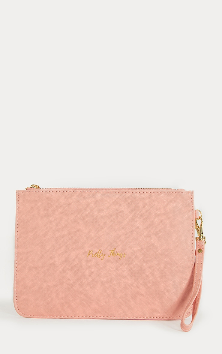 Pretty Things Coral Beauty Bag
