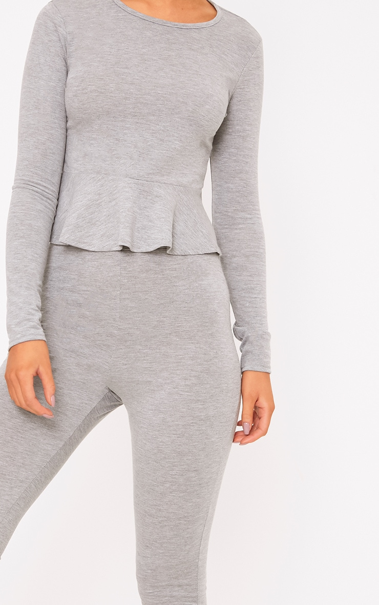 Grey Frill Detail Cropped PJ Set 5