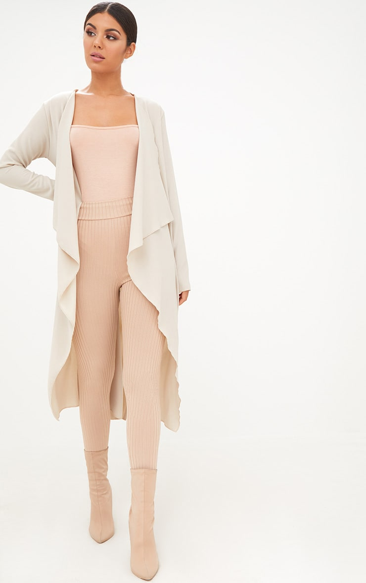 Stone Waterfall Longline Duster Jacket 1