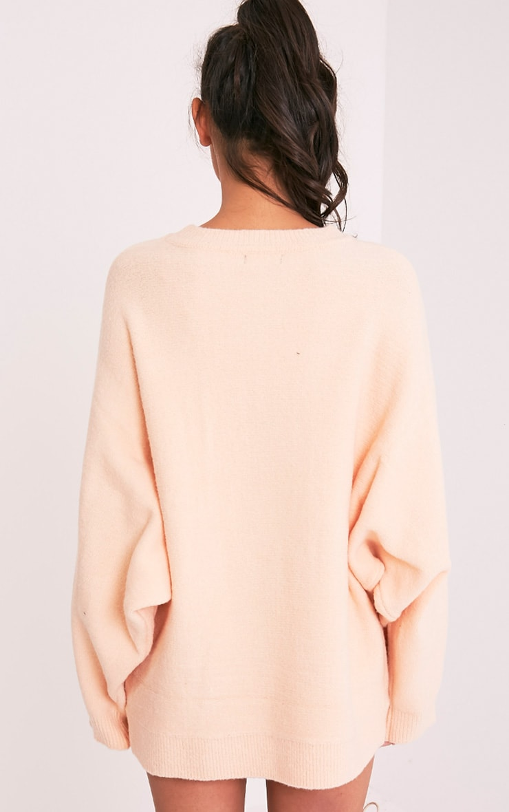 Raysa Nude Oversized Knitted Jumper 3