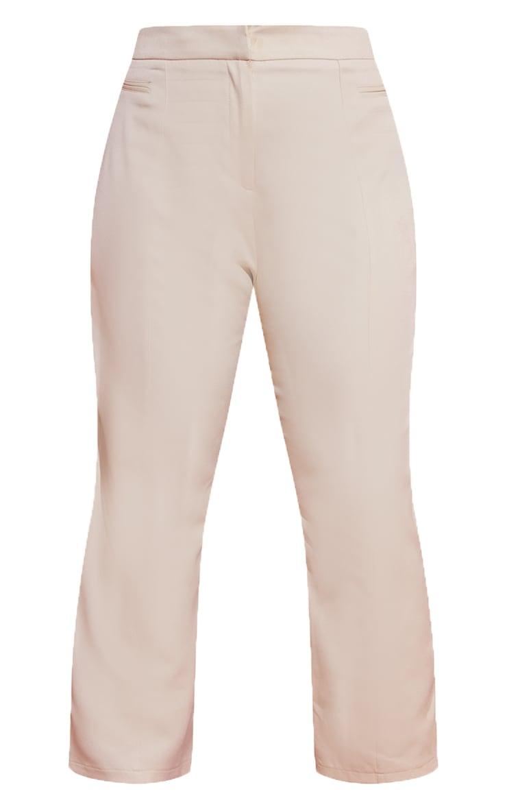 PLT Plus - Pantalon court gris pierre à coutures devant 5