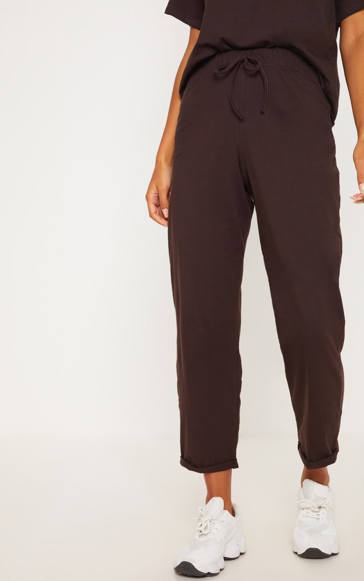 Brown Cotton Tie Detail Trouser 2