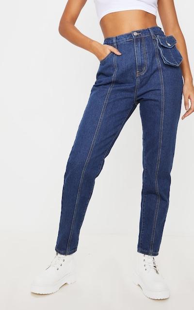 Dark Wash Detachable Utility Pocket Jeans
