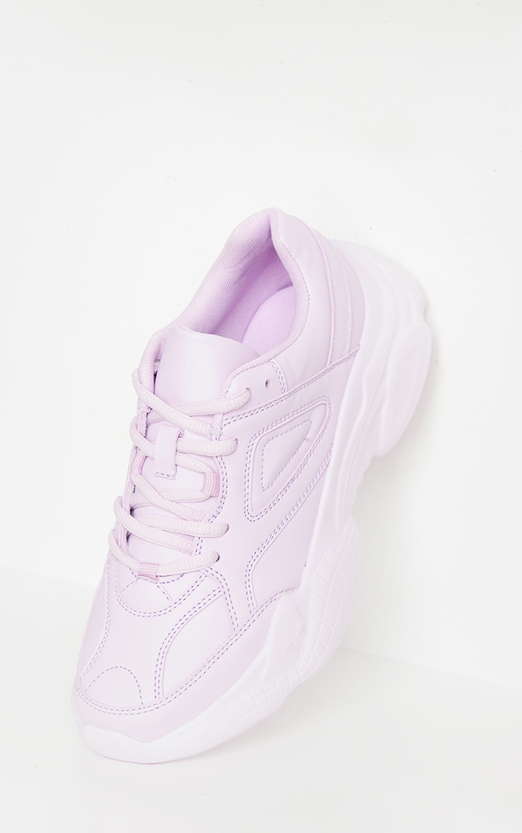 Lilac Arch Sole Chunky Trainers 3