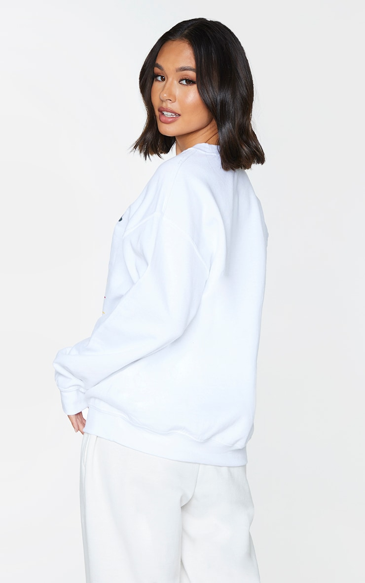 Cream Weekend Chills Oversized Sweatshirt 2