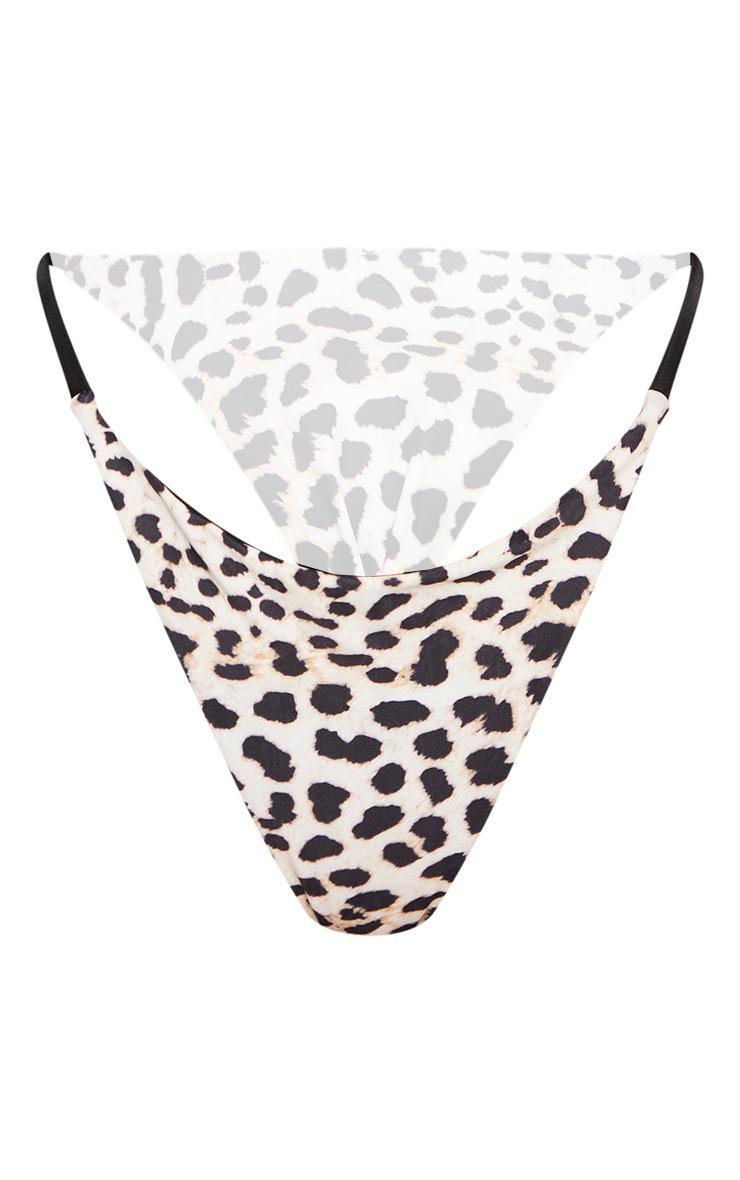 Leopard Contrast Mini Thong Bikini Bottom 6