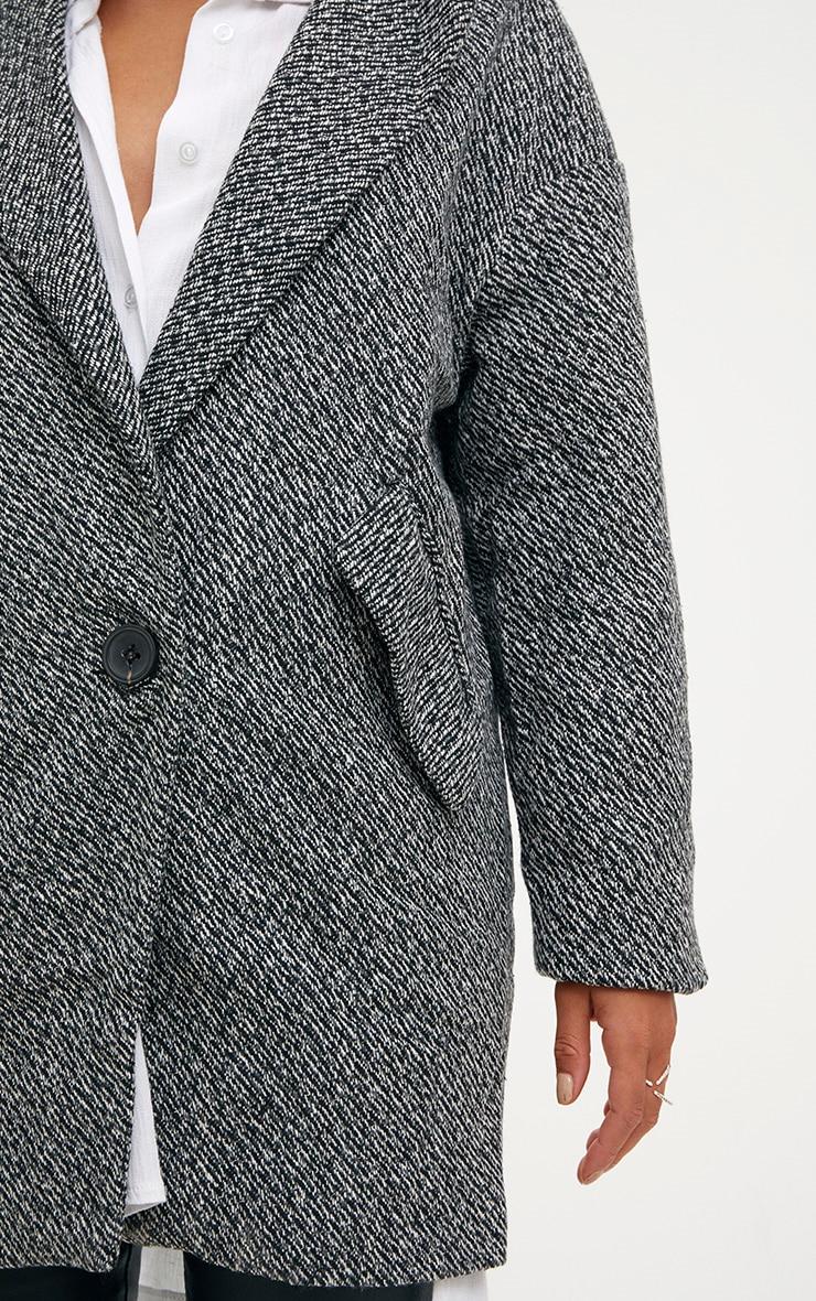 Grey Harringbone Coat 5