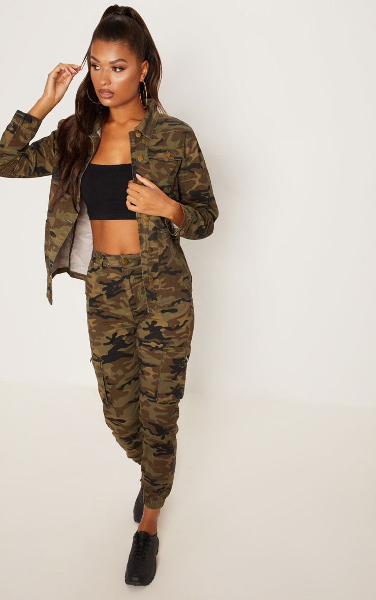 Camo Trucker Denim Jacket 4