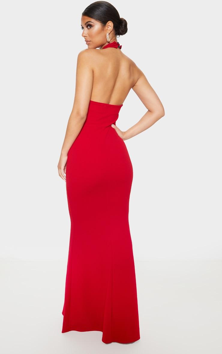 Scarlet Knot Detail Fishtail Maxi Dress 2
