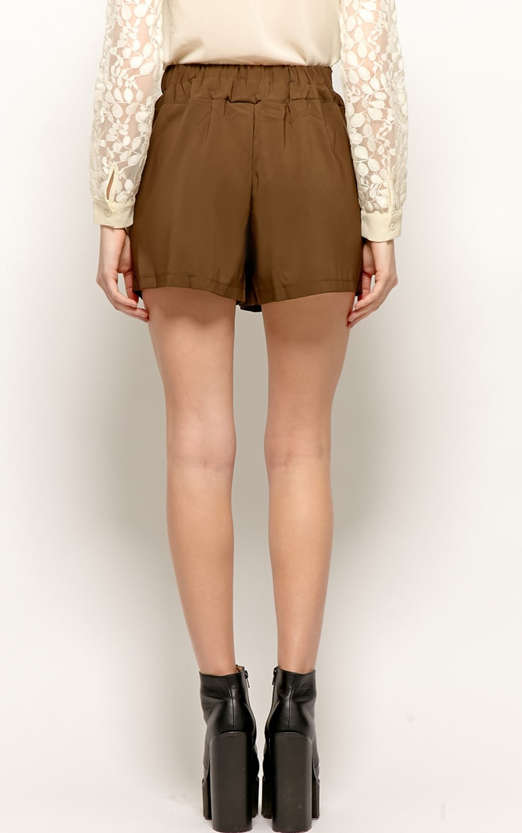 Montana Brown Pleated Shorts -M 2