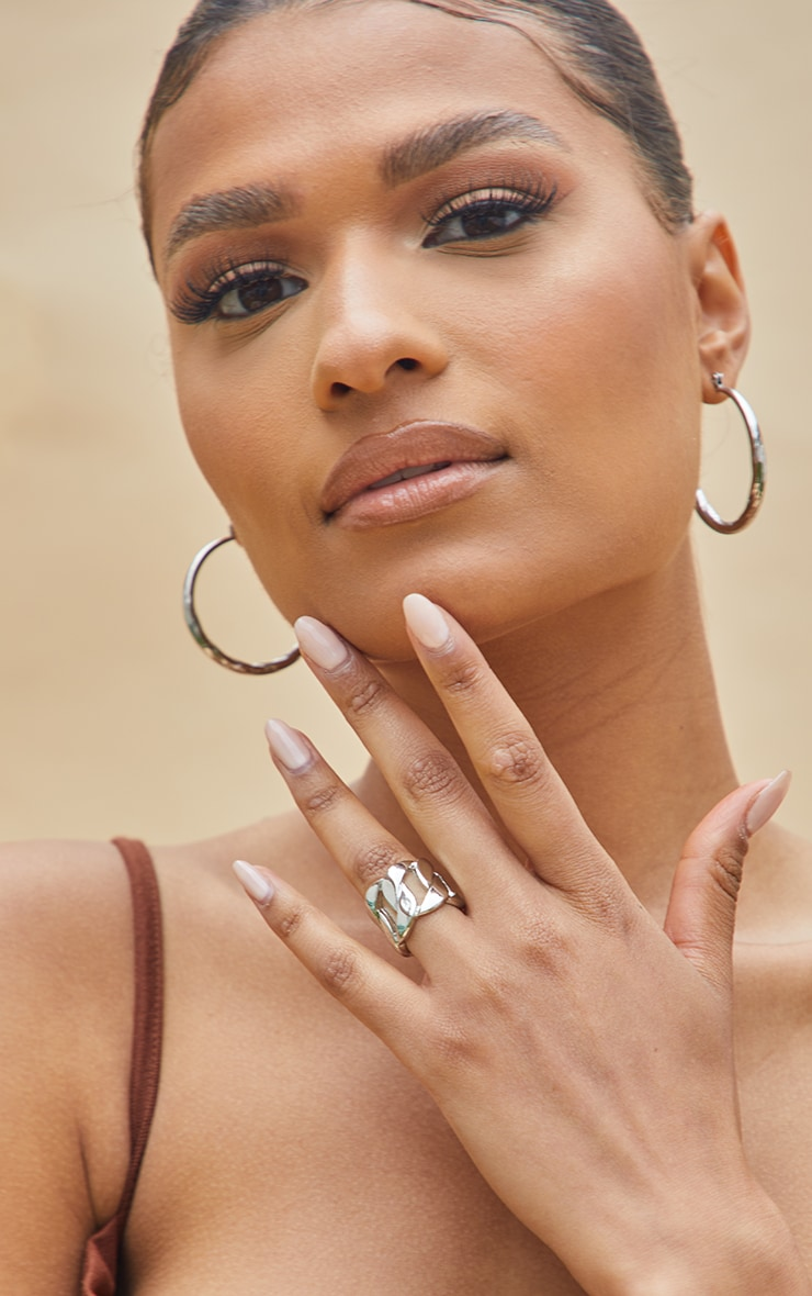 Silver Extra Chunky Chain Ring 1