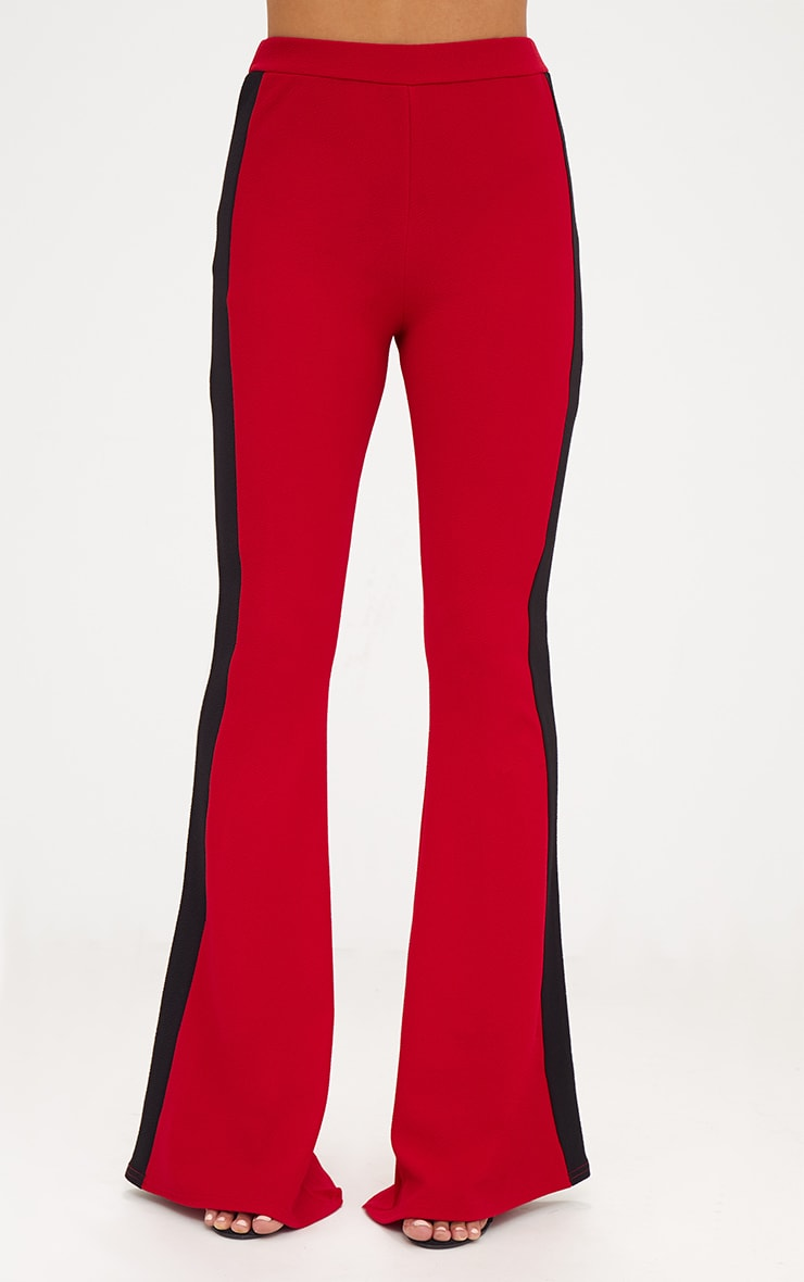 Red Sports Stripe Flared Trouser 2