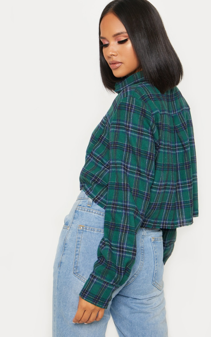 Green Crop Check Shirt 2