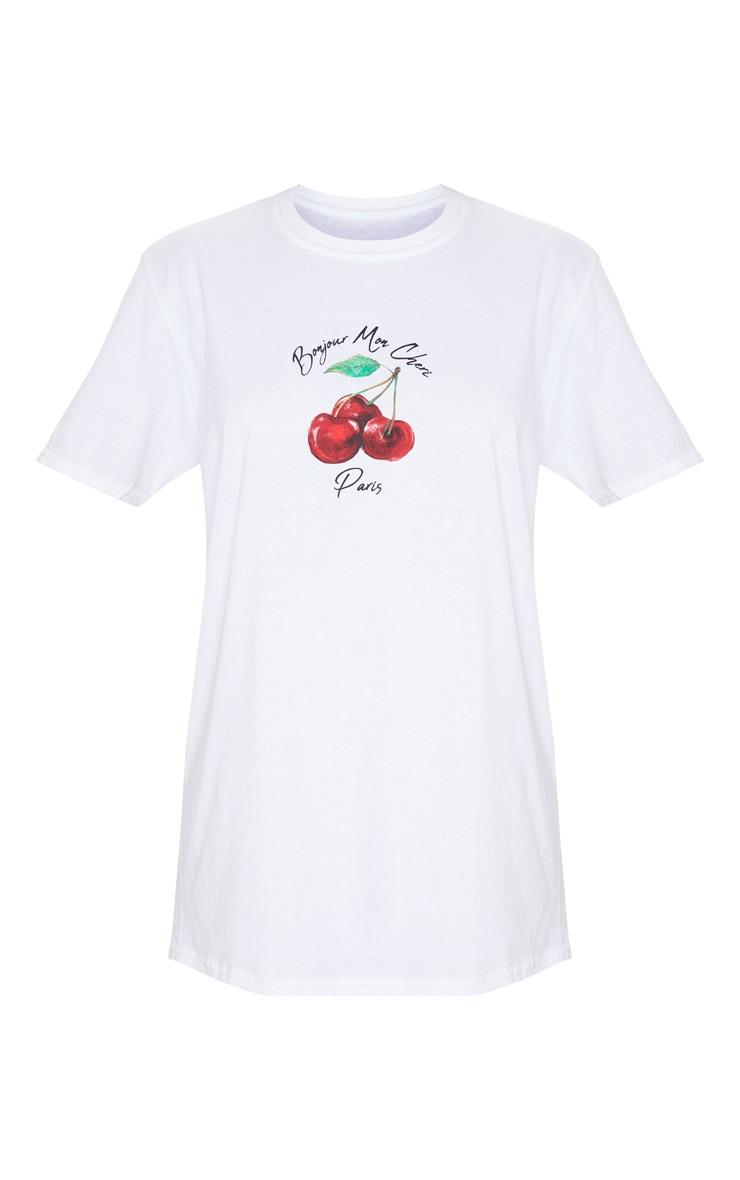 White Cherry Printed T Shirt 5