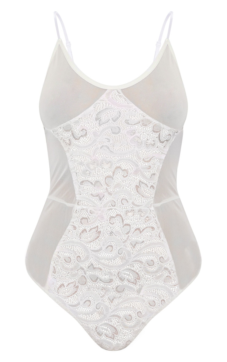 White Lace Middle Mesh Body 3