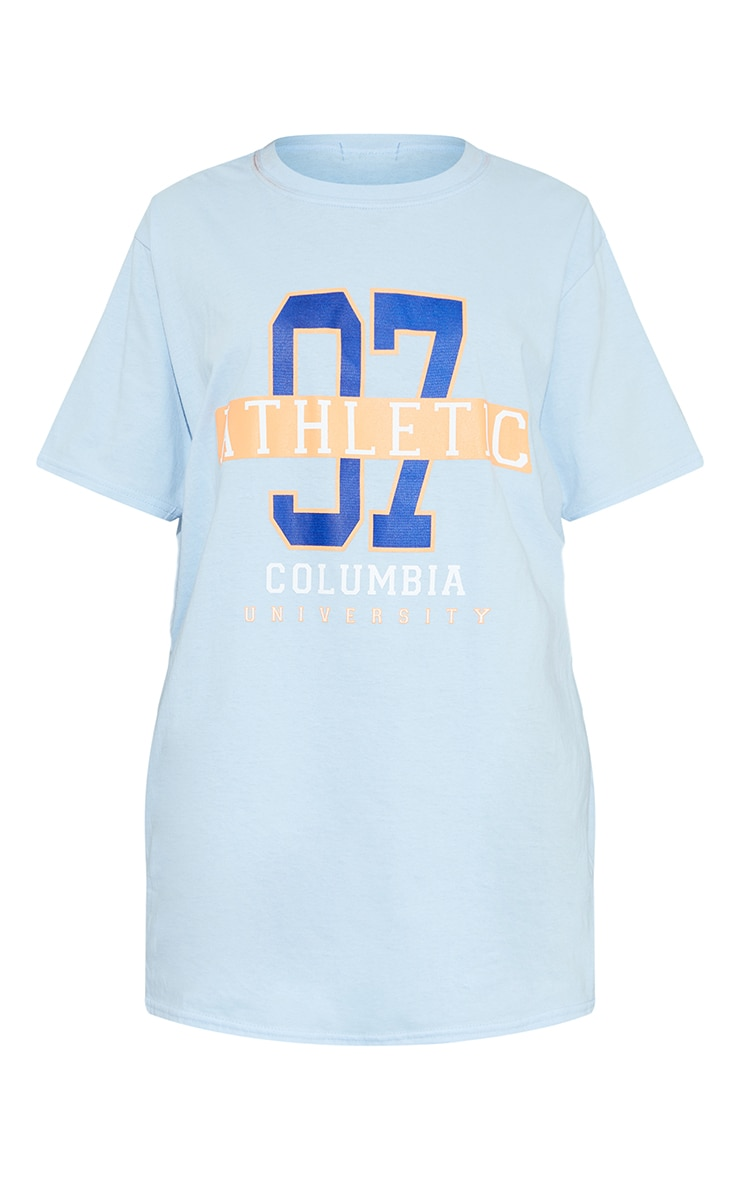 Baby Blue 97 Athletic Slogan T Shirt 5