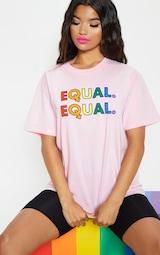 UNISEX Pink EQUAL Oversized T-shirt 6